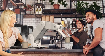 robolink used to serve coffee