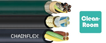 Suitable cables for cleanroom applications